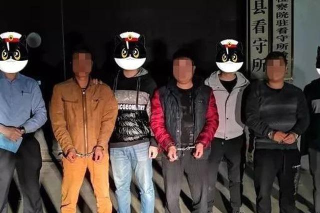 灵山县公安直捣非法采砂点 抓获涉案人员19名