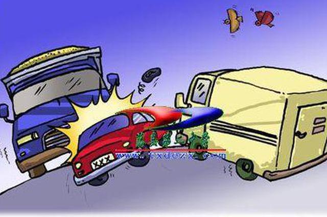 面包车驶入反向车道与重型货车相撞 事故致5死3伤