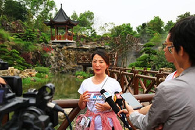 媒体记者和网络大咖点赞南宁园博园