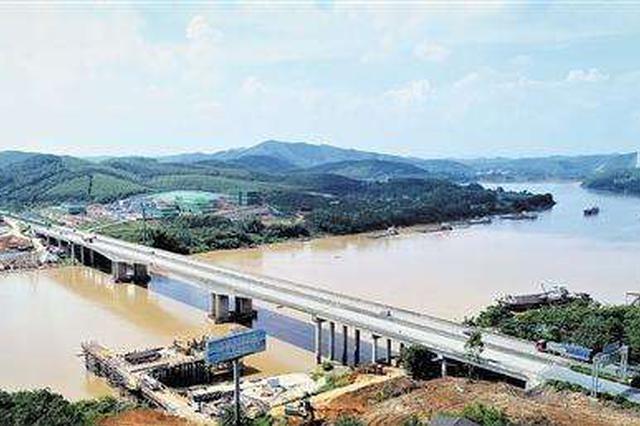 六律邕江特大桥总体施工进度近半 预计2020年7月通车