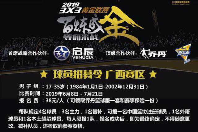 一触即燃!新浪3X3黄金联赛南宁、柳州赛区球员招募