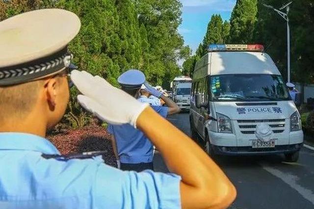 泪别!昨日桂林交警沉痛送别殉职的两位战友