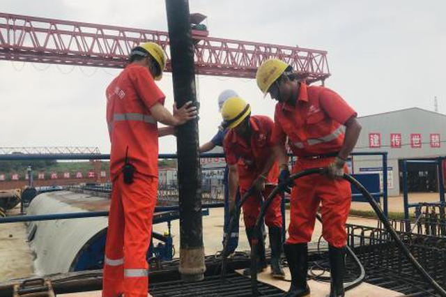 广西首条自主投资高铁南崇高铁开始首片箱梁浇筑