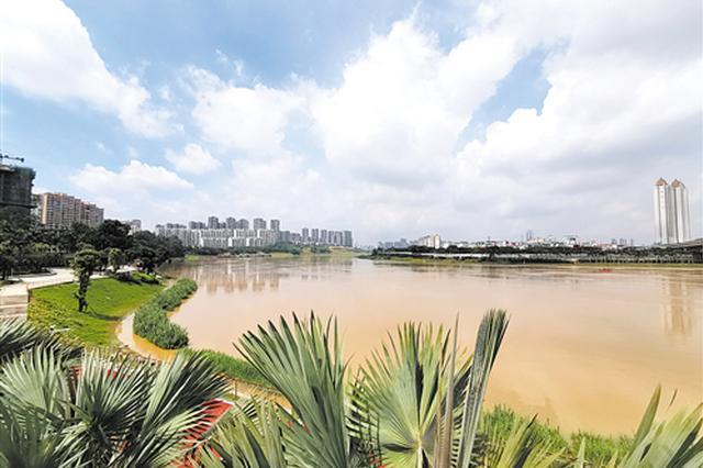 邕江水位上涨水流湍急 期间市民最好别去江边戏水