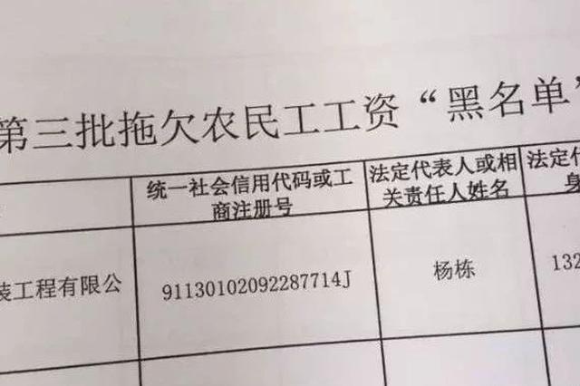 """曝光!广西这2家公司上了拖欠农民工工资""""黑名单"""""""