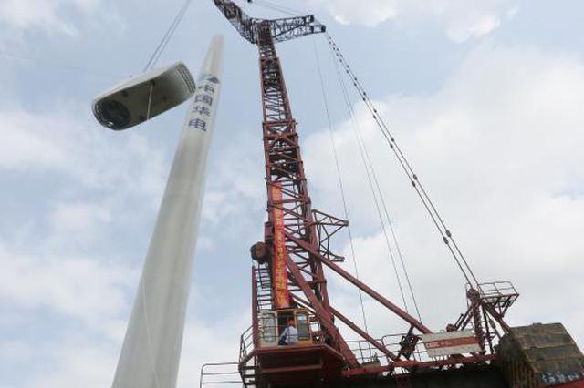 厉害了!广西融安山区风力发电站安装 缓解电力紧缺