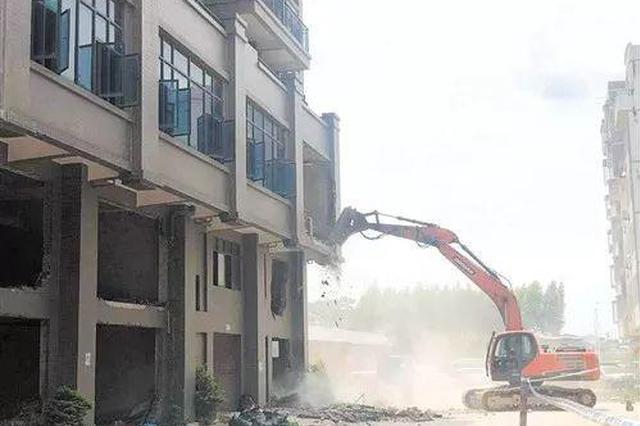 南宁有人售卖了53套违建房 这些小产权房被整体拆除
