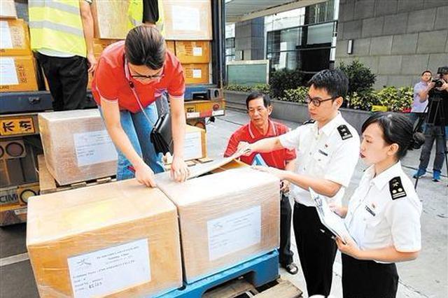 第16届东博会首批入境展品通关 2227件展品运抵南宁
