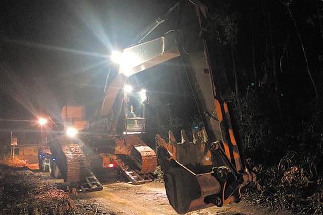 南宁执法人员连夜出动打击非法采矿盗挖