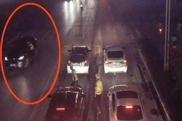 生死时速25秒 广西一辅警惨遭酒驾司机拖行200米