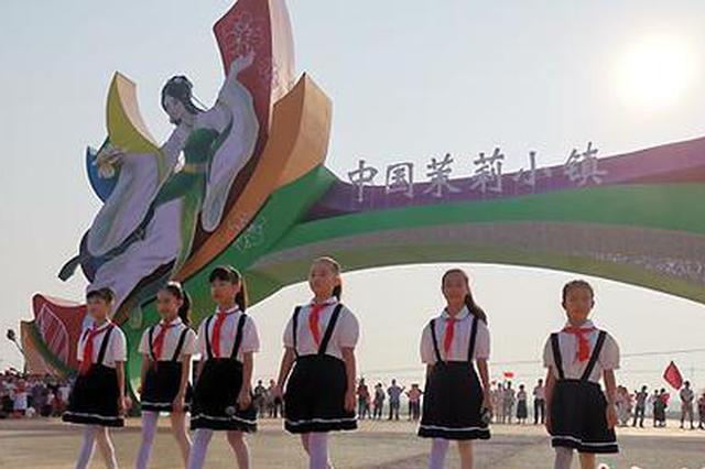 千人齐聚横县茉莉小镇 快闪致敬新中国成立70周年