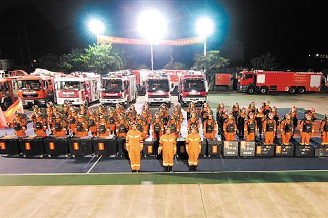 广西玉林消防快速响应处置 震区群众全部安全转移