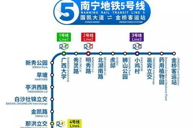 南宁地铁5号线成功下穿1号线 两线最小净距离2.65米