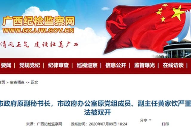 广西多名党员干部被处分 涉及北海、桂林、贺州等市