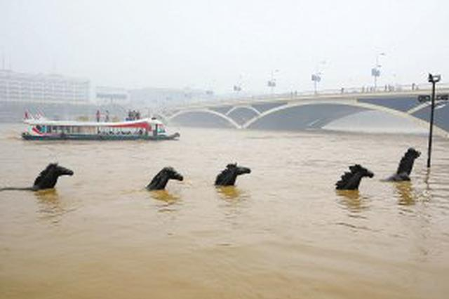 漓江桂林城区出现入汛最高洪水 游船实行交通管制