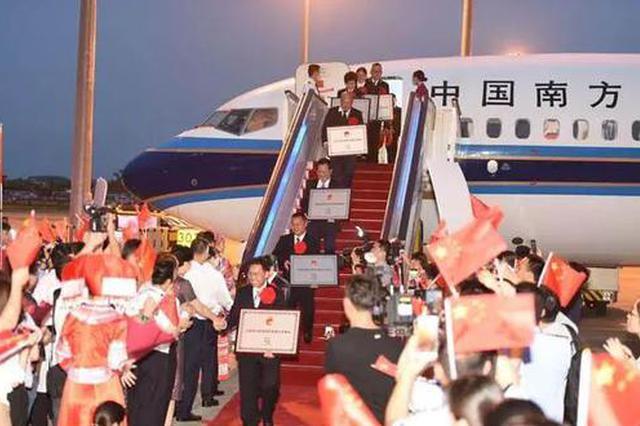 英雄归来!广西获表彰先进个人和集体代表回家了
