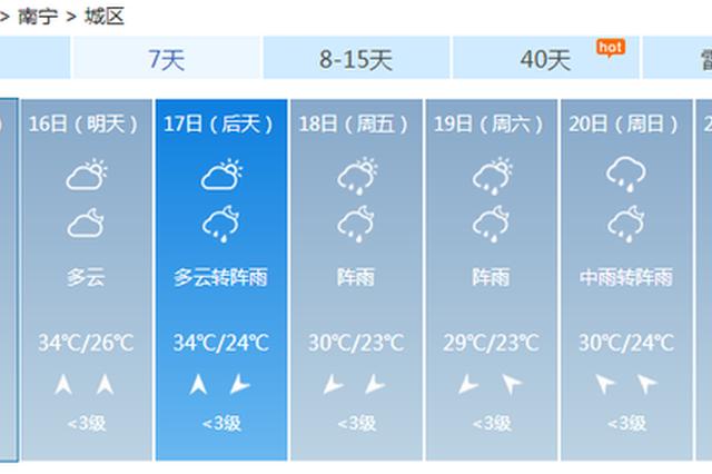 """11号台风将""""出道""""?广西雨水将至 出门记得带伞"""