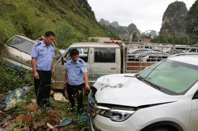 广西一小车撞死2人 一男一女先后报警均称是当事司机
