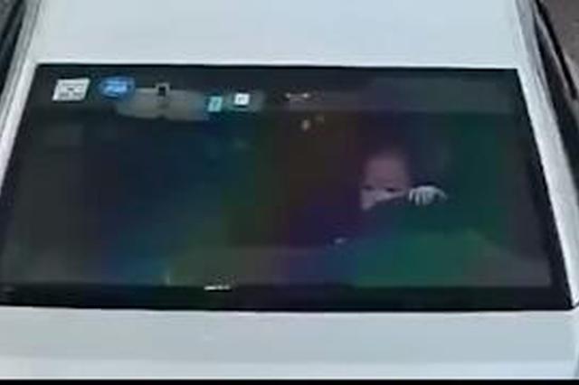 南宁一教练车驾驶员抱着小孩开车 被民警查获(视频)