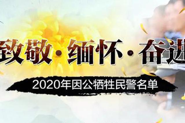 缅怀!2020年因公牺牲民警名单公布,广西10人在列