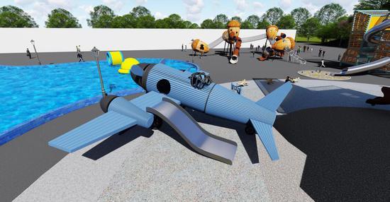 淘趣堡-大飞机建设效果图