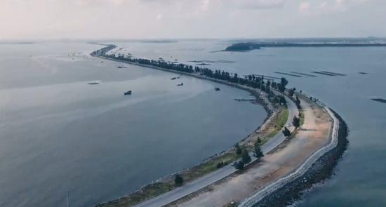 航拍下的钦州港片区