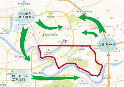环广西即将开赛 民族大道等多条主要路段将临时限行