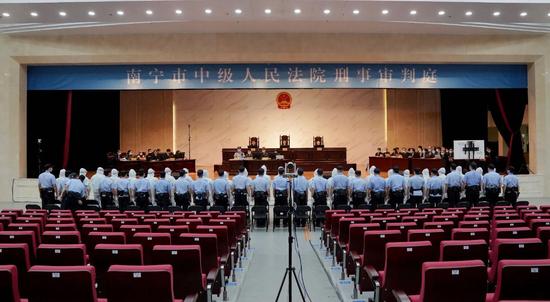这个25人涉黑团伙在南宁受审 全国扫黑办挂牌督办