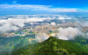 ▲桂平旅游核心景点区位图