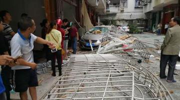 来宾一居民房液化气罐爆炸 门窗俱碎