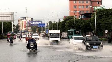 桂林遭强降雨袭击 连发2次暴雨红色预警