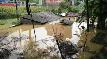 大暴雨袭击马山 农田房子被淹