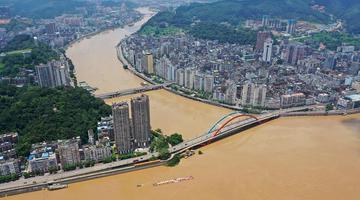 西江第2号洪水过境广西梧州