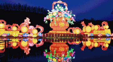 南宁青秀山灯展延期至10月31日