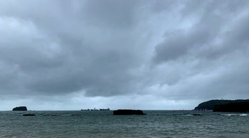 """台风""""森拉克""""将来袭 涠洲岛严阵以待"""