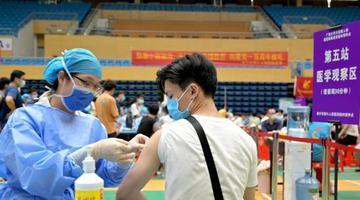 广西各高校开展大规模新冠疫苗接种工作