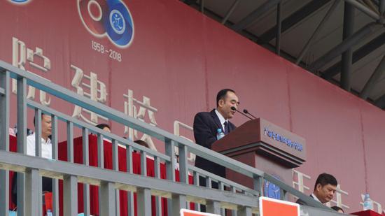 广西交通职业技术学院院长程轮致辞并作主题演讲