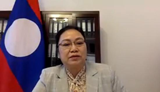 老挝人民民主共和国驻华大使坎葆·恩塔万阁下致辞