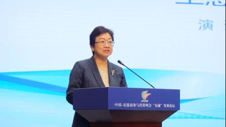 香港中华总商会副会长、第十三届全国政协提案委员会副主任王惠贞致辞