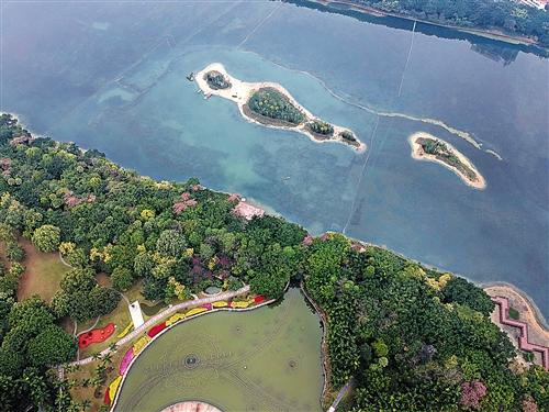 南湖公园生态岛建成