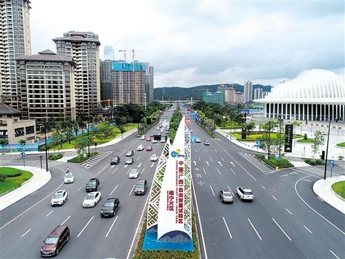 中国(广西)自由贸易试验区南宁片区落户于高楼林立、交通便利的南宁五象新区