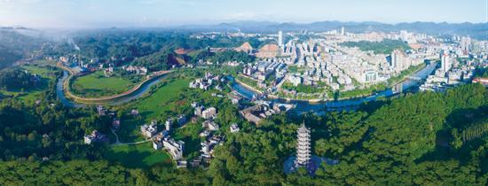 美丽的浦北县城