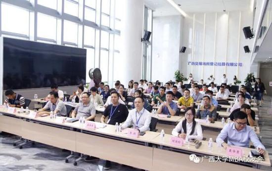 区域性股权市场助力企业发展——广西大学MBA校友会走进广西北部湾股权交易所