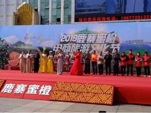2019鹿寨蜜橙电商旅游文化节现场