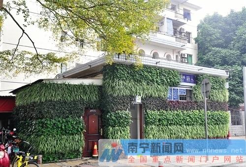 东葛思贤路口公厕的立体绿化