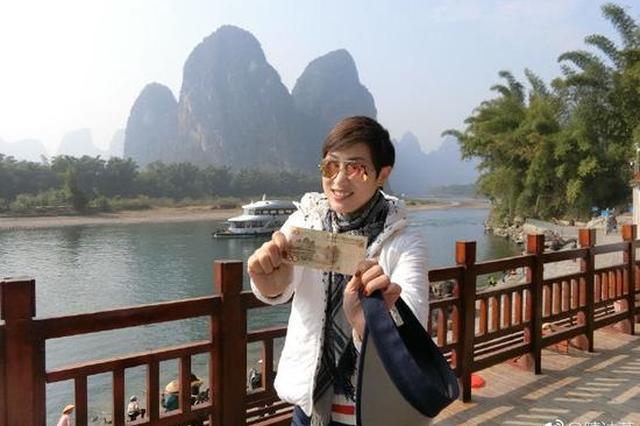TVB女神陈法蓉来桂林跨年啦!小伙伴们偶遇了吗