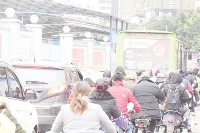 """南宁""""拥堵指数""""出炉 市民出行尽量绕行施工路段"""