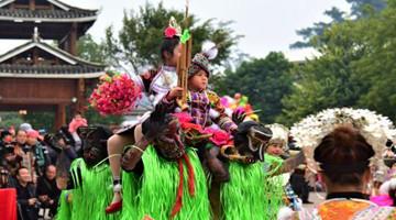广西苗族民众祭祀祖先过苗年