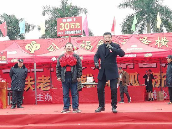 12月31日在活动现场爆出第一个30万元大奖