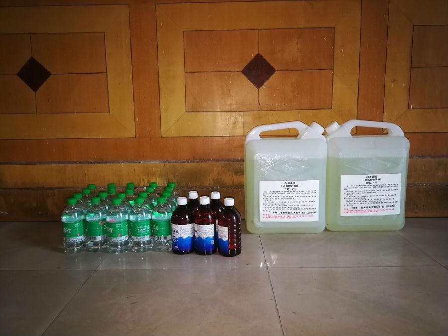 贺州市45049976号福彩投注站业主张亚胜、冯丽惠夫妇捐赠的防疫物资